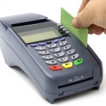 Swiping credit card with POS-terminal
